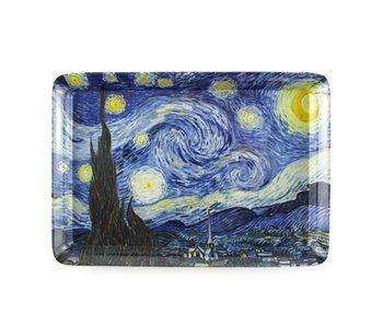 Serviertablett Mini,  21 x 14 cm,Van Gogh, Sternennacht