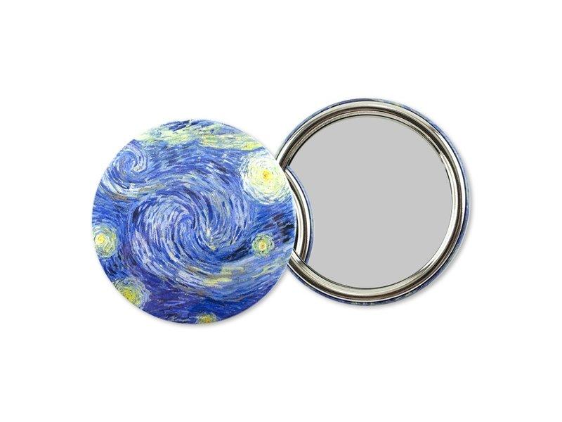 Spiegel groot, Ø 80 mm,Van Gogh, Sterrennacht