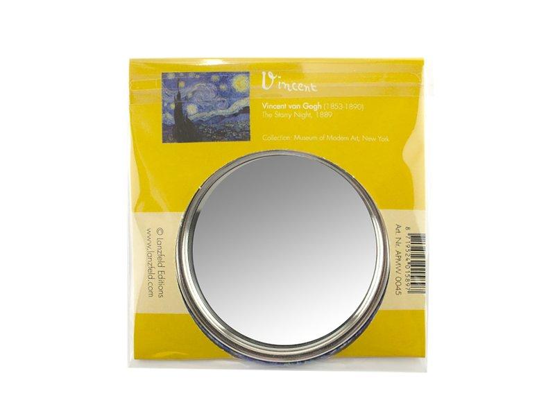 Miroir de poche, Ø 80 mm, Van Gogh, Starry Night