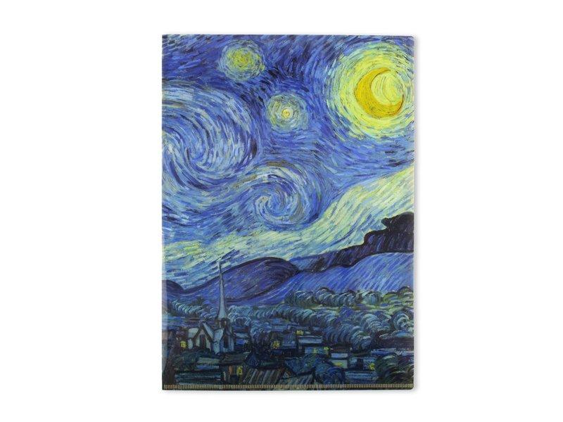 L-Ordner A4-Format, Sternennacht, Van Gogh