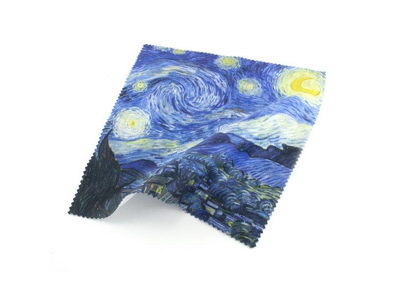 Brillenputztuch , Van Gogh, Sternennacht 15x15
