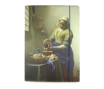 Dokumentenmappe mit elastischem Verschluss, Vermeer,  Das Milchmädchen