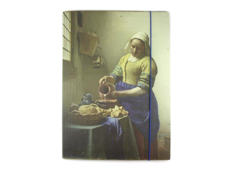 Documentenmap met elastiekje, Vermeer, Het melkmeisje