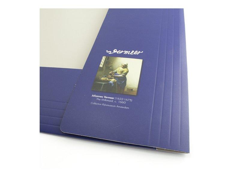 Dokumentenmappe mit elastischem Verschluss, Vermeer, die Milchmagd