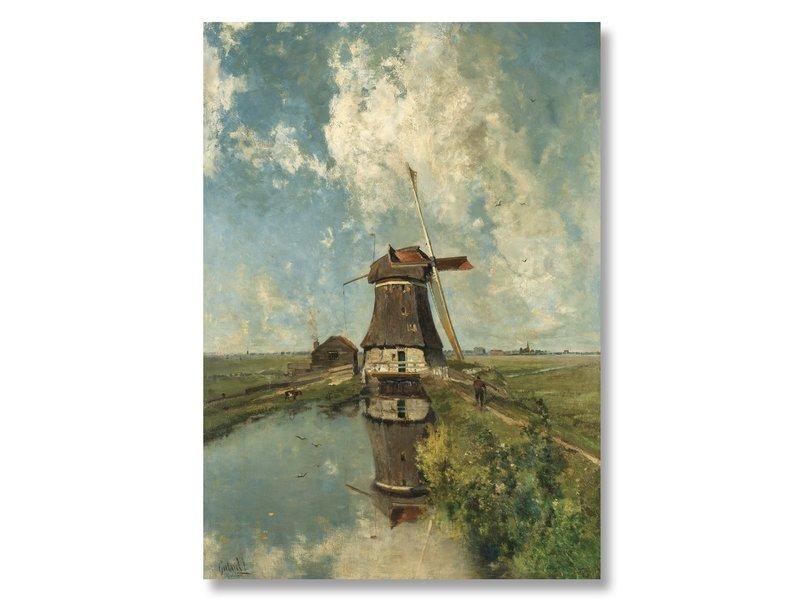 "Plakat, 50x70, Mühle ""Im Monat Juli"", Gabriel"