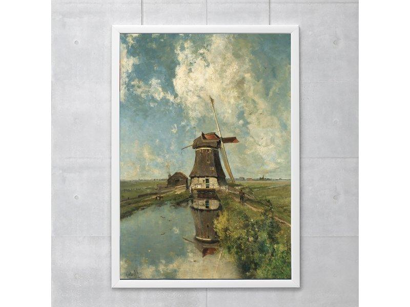 Poster, Molen  'In de maand juli', Gabriël