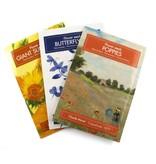 Postkarte mit Schmetterlingsmischungssamen, Delfter blaue Vögel