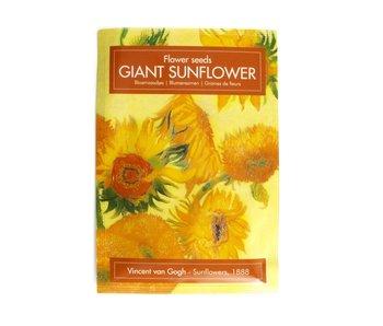 Seed Bag  Postcard, Sunflowers Van Gogh