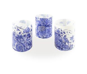 Kerzenschirm, Delft blau Vögel