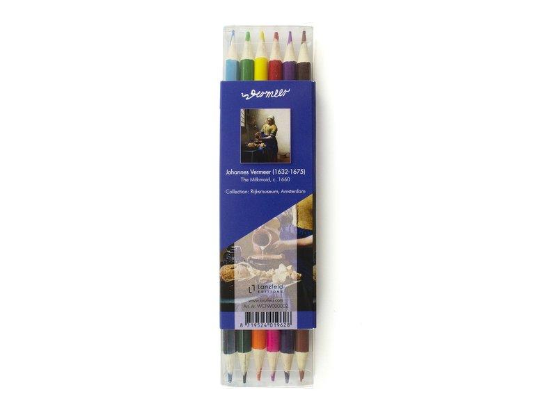 Satz Buntstifte, Vermeer, Milchmädchen