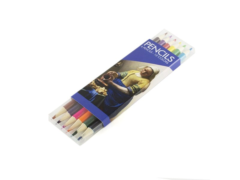 Set kleurpotloden, Vermeer, Het melkmeisje