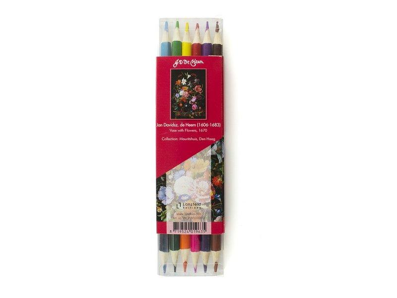 Colouring Pencil Flat Pack , De Heem, Vase with Flowers