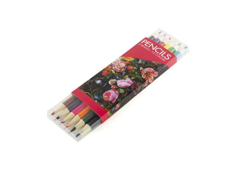 Set de lapices de colores, De Heem, Florero con flores