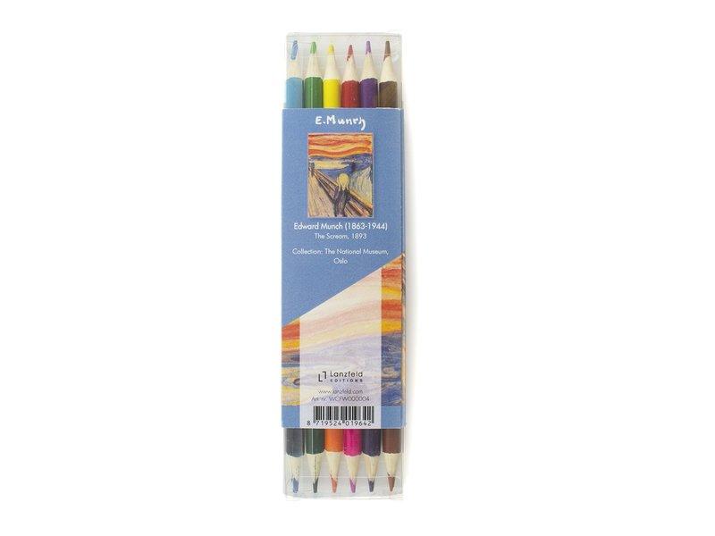 Ensemble de crayons de couleur, Munch, Le cri