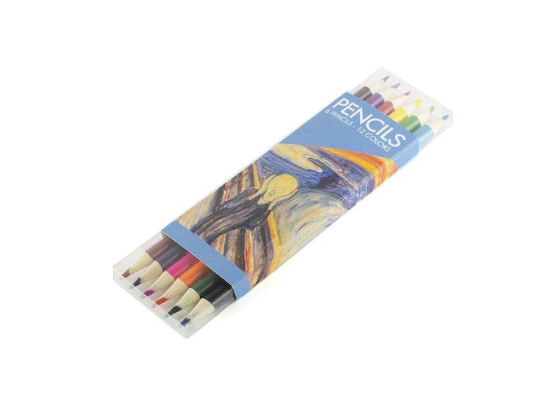 Set kleurpotloden, W, Munch, The scream