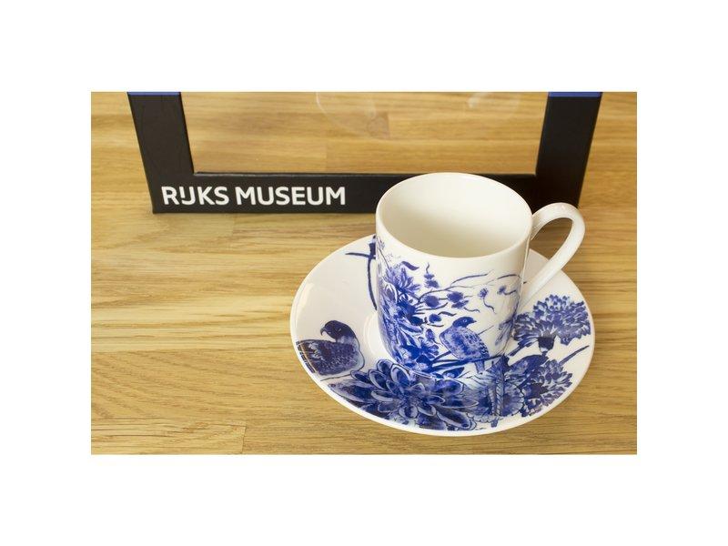 Espresso-Set, Delfter blaue Vögel, Rijksmuseum