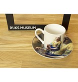 Set de espresso, Vermeer, Lechera, Rijksmuseum