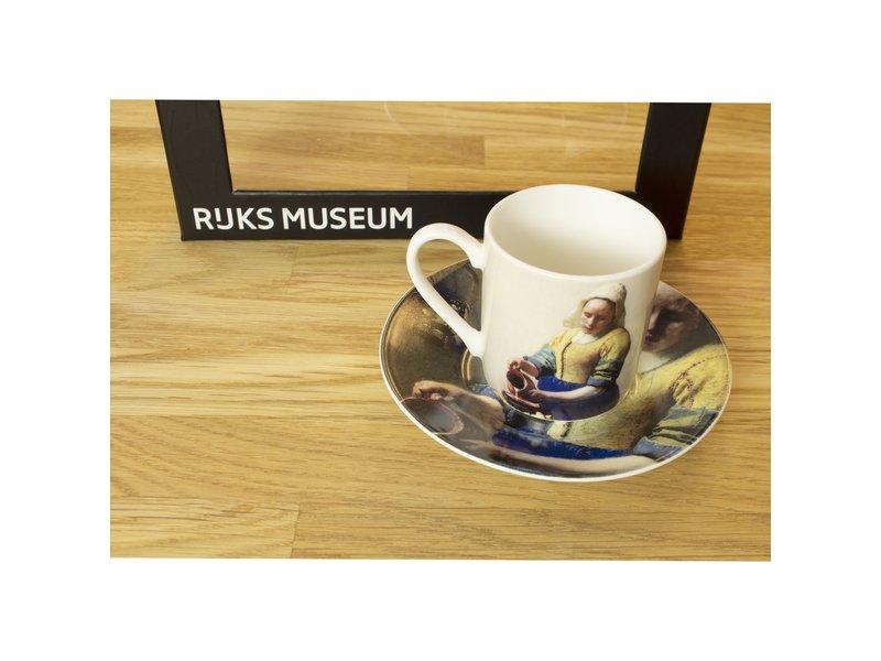 Espresso-set, Vermeer,  Das Milchmädchen,   Rijksmuseum