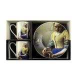 Espresso set,  Vermeer, Melkmeisje, Rijksmuseum