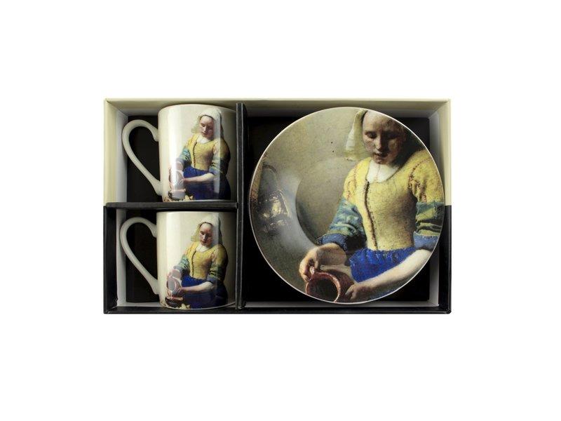 Espresso set, Vermeer, Milkmaid, Rijksmuseum