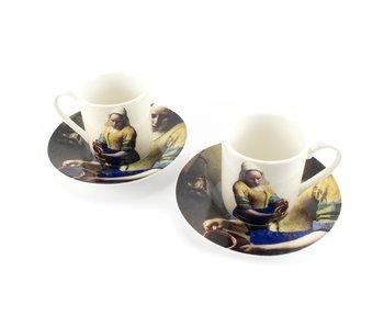 Espresso set W, Vermeer, The Milkmaid, Rijksmuseum