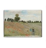 Koelkastmagneet, veld met klaprozen, Monet