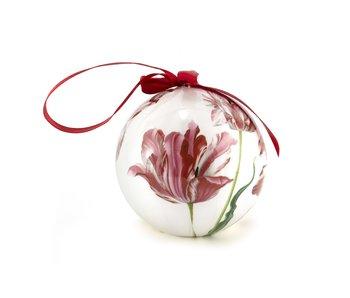 Kerstbal Drie tulpen , Merian, onbreekbaar