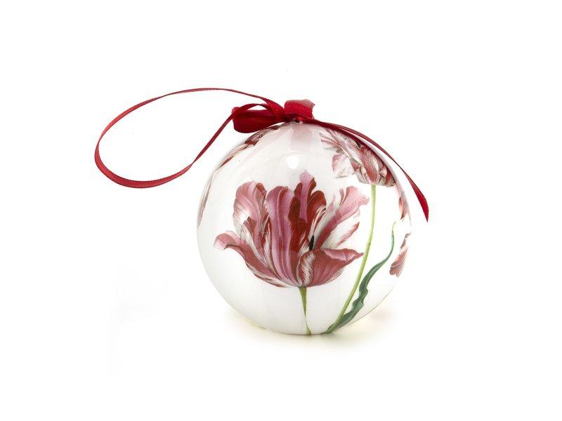 Bola navideña Tres tulipanes, Merian, irrompible