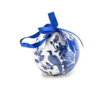 Bola navideña Delft azul, irrompible