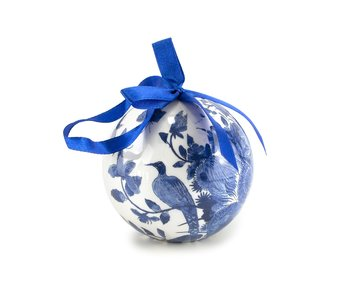 Christmas Bauble, Delft Blue Birds, unbreakable