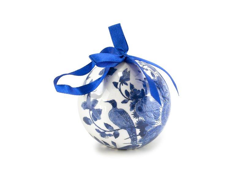 Weihnachtskugel Delft blau, unzerbrechlich