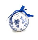Kerstbal Delfts blauw, onbreekbaar