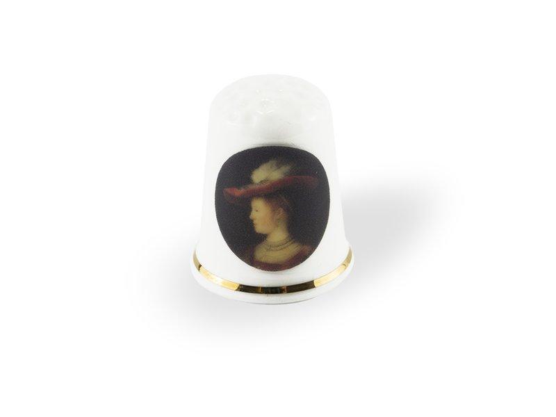 Dé à coudre, Rembrandt, Saskia