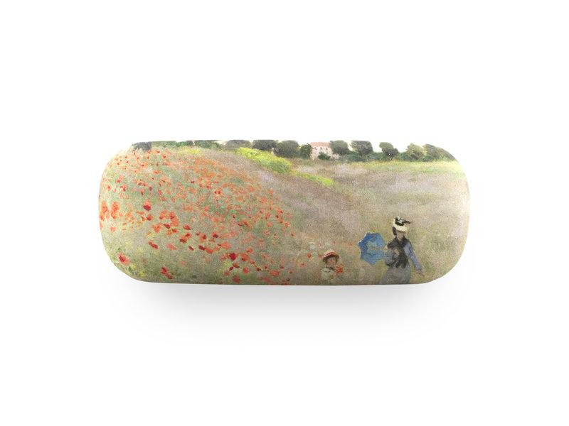 Funda de gafas, Monet, Campo con amapolas