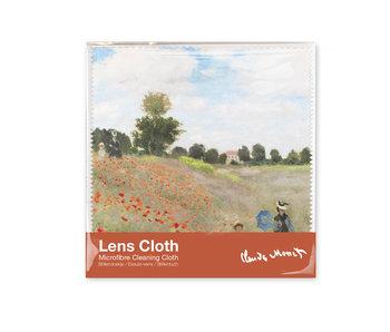 Brillenputztuch Monet, Feld mit Mohnblumen