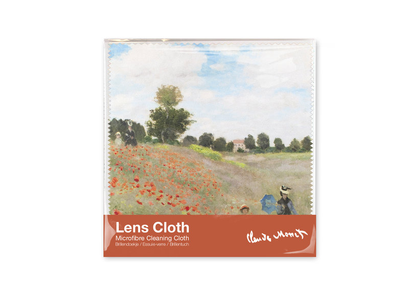 Chiffon de nettoyage,  Monet, champ avec coquelicots