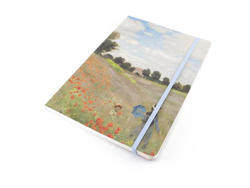 Softcover notitieboekje, A5, Monet, Veld met klaprozen