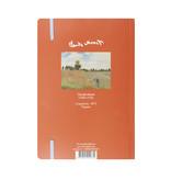 Softcover-Notizbuch, A5, Monet, Feld mit Mohnblumen