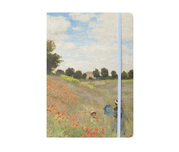 Carnet à couverture souple, A5, Monet, champ avec des coquelicots