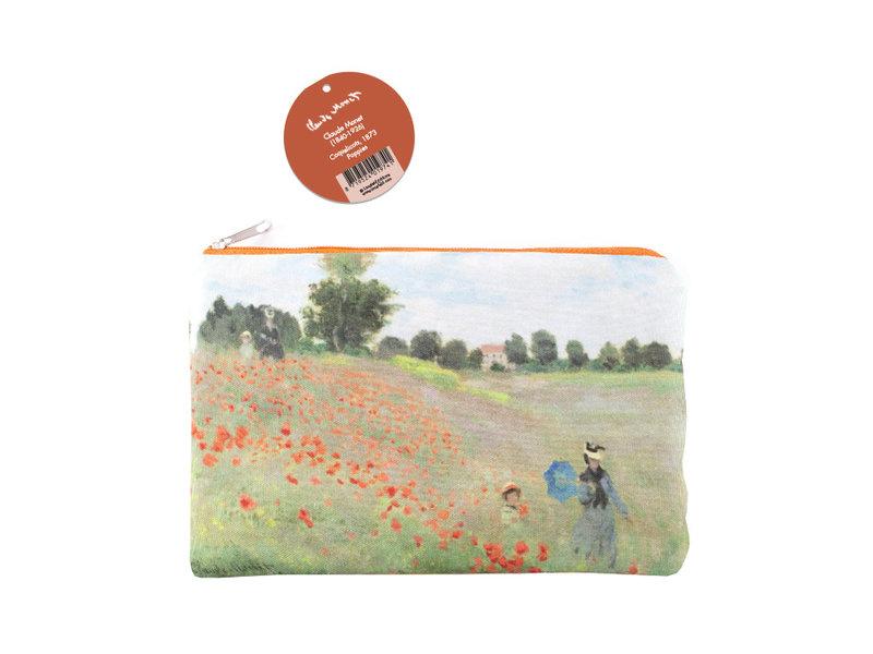 Beutel, Monet, Feld mit Mohnblumen