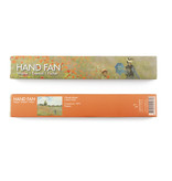 Hand waaier, bamboo, Monet, Veld met klaprozen