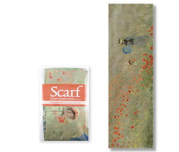 Scarf , Monet, Field with Poppies