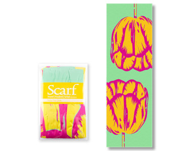 Scarf , Tulip Pop Art line Green