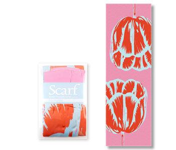Scarf , Tulip Pop line Pink