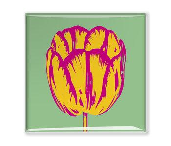 Aimant pour réfrigérateur, ligne Tulip Pop Vert
