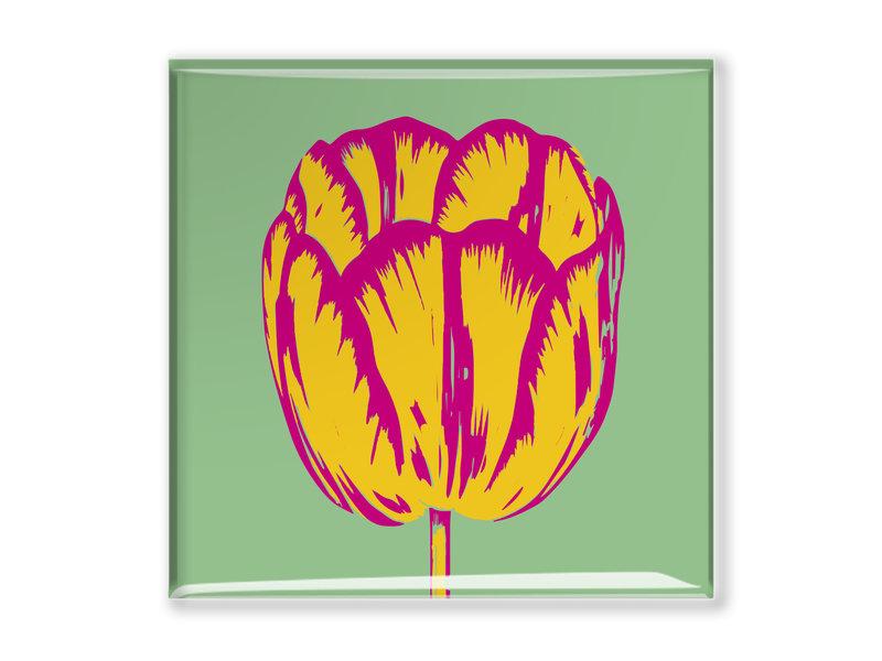 Kühlschrankmagnet, Tulip Pop Linie Grün