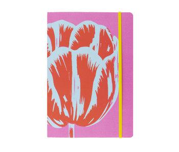 Cuaderno de tapa blanda, A5, Tulipanes Pop Line rosa