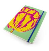 Cuaderno de tapa blanda, A5, Tulip Pop Line Green