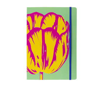 Softcover Book , A5, Tulip Pop Line Green