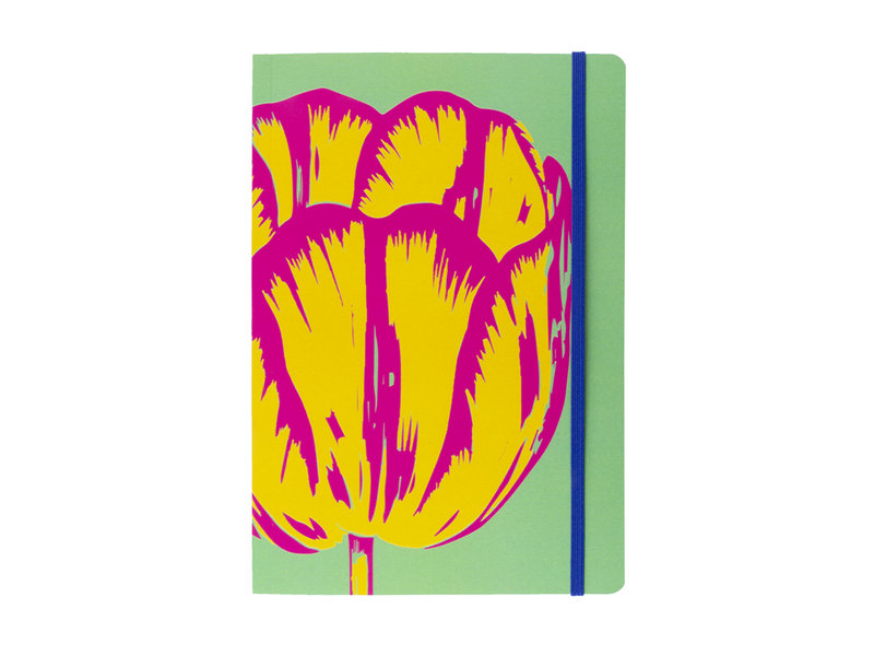 Softcover notitieboekje, A5, Tulp Pop Line Green